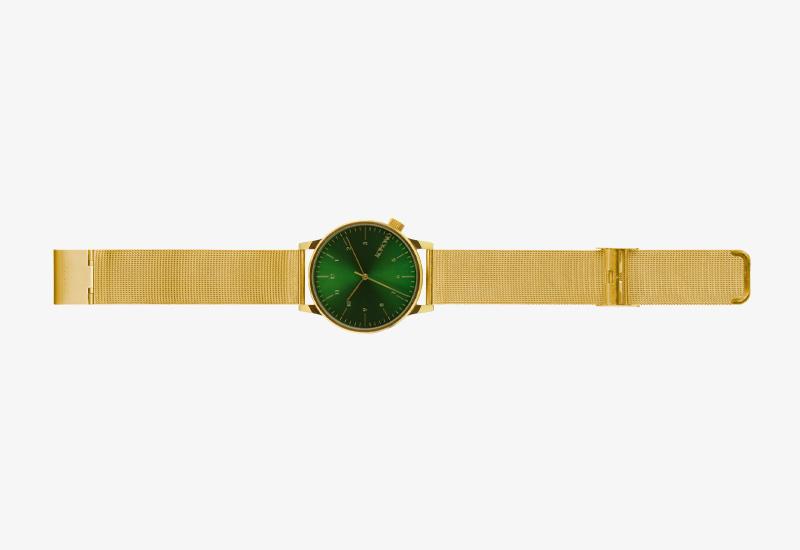 Hodinky Komono Winston Royale – zlaté barvy, zelený ciferník, gold, green | Pánské a dámské náramkové hodinky