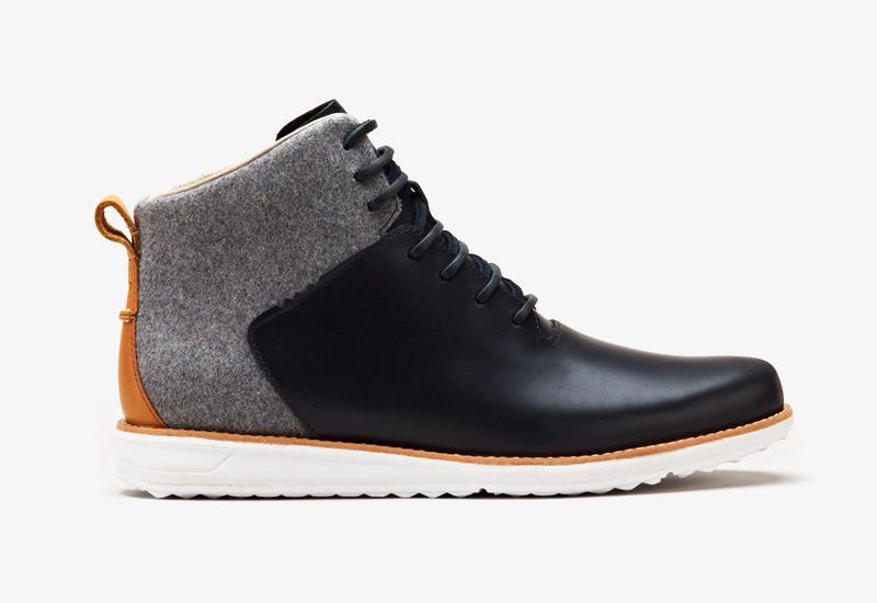 Pánské zimní boty ohw? – Gatland, podzimní boty, plstěné, kožené, šedé, černé | Vysoké kotníkové boots