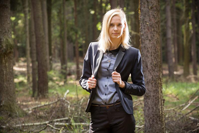 Pattern – dámsaké sako, sáčko, černé | Dámské oblečení