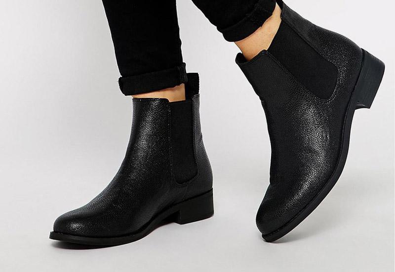Boty perka – Chelsea Boots – dámské, kožené, – černé, strukturované | Kotníkové boty – dámské