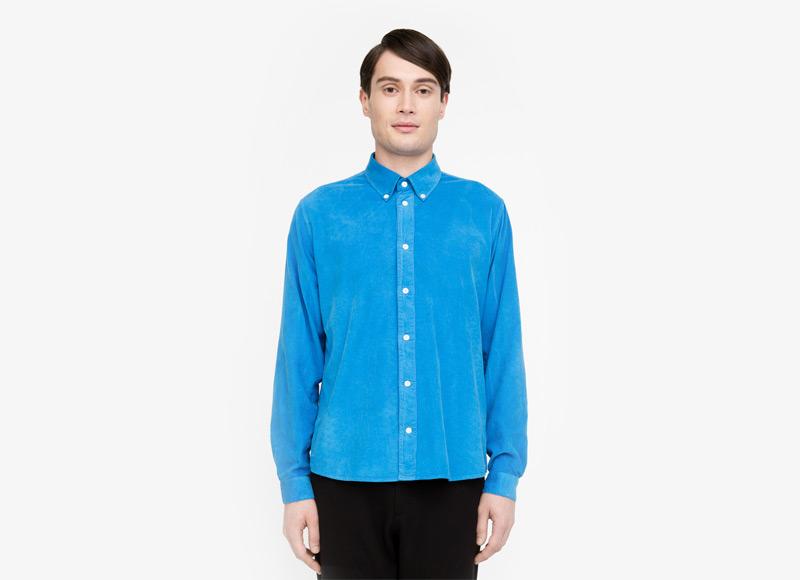 Frisur – pánská košile, modrá, s dlouhým rukávem | Podzimní a zimní oblečení – pánské