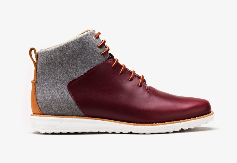 Pánské zimní boty ohw? – Gatland, podzimní boty, plstěné, kožené, šedé, vínové | Vysoké kotníkové boots