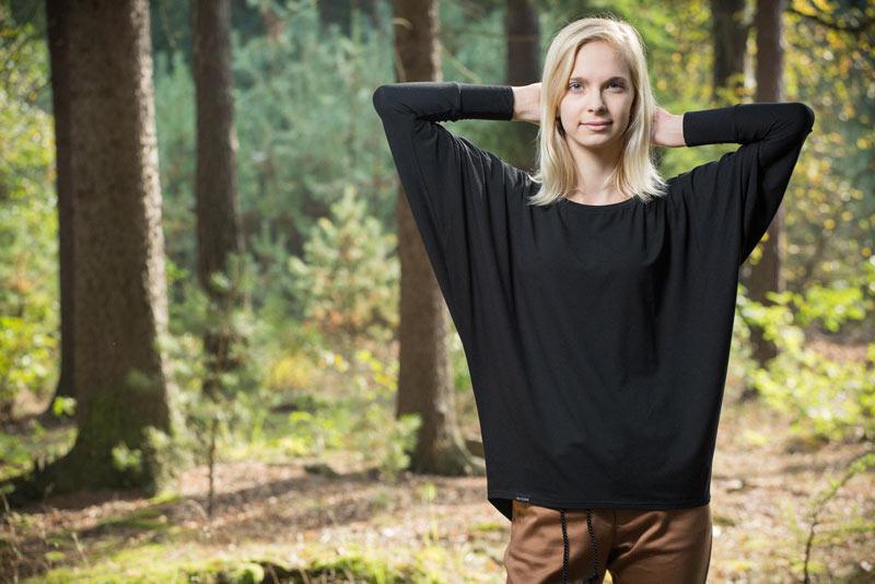 Pattern – dámská tunika, černá | Dámské oblečení
