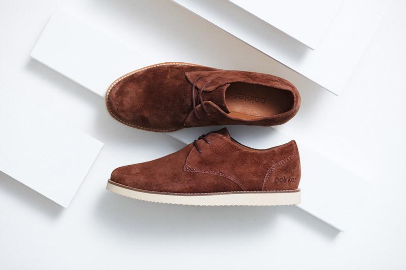 Boty Pointer – pánské – podzimni nízké boty, pánské, hnědé, semišové