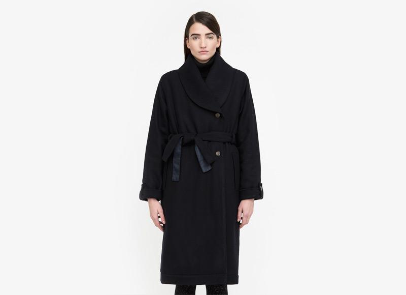 Frisur – zimní kabát – dámský, dlouhý, černý | Podzimní a zimní oblečení – dámské