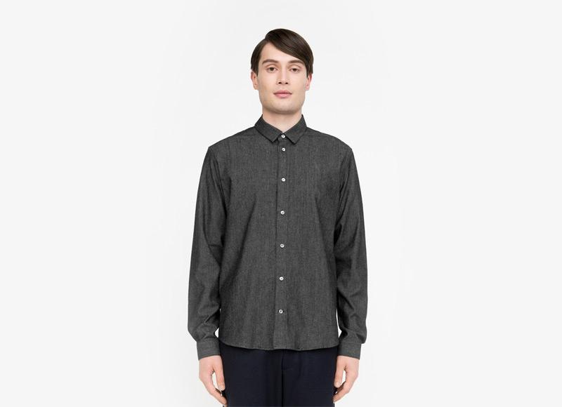 Frisur – pánská košile, tmavě šedá, s dlouhým rukávem | Podzimní a zimní oblečení – pánské