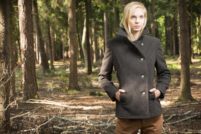 Pattern – dámský kabátek s límcem, kabát | Dámské oblečení