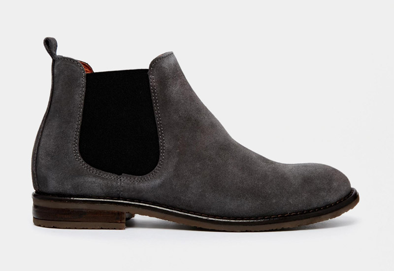 Boty perka – Chelsea Boots – dámské, kožené, – šedé, semišové | Kotníkové boty – dámské