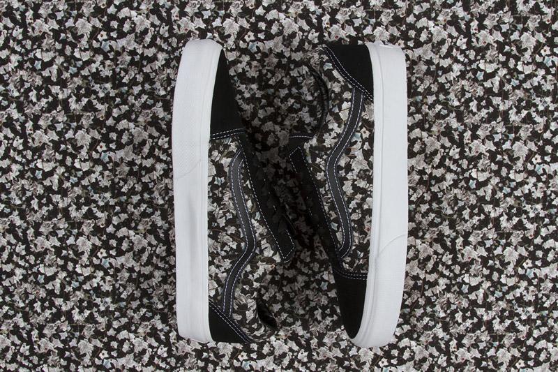 Boty Vans x Liberty – Old Skool – černé s hnědým vzorem břečťanu – Belmont Ivy| Pánské a dámské nízké tenisky Vans