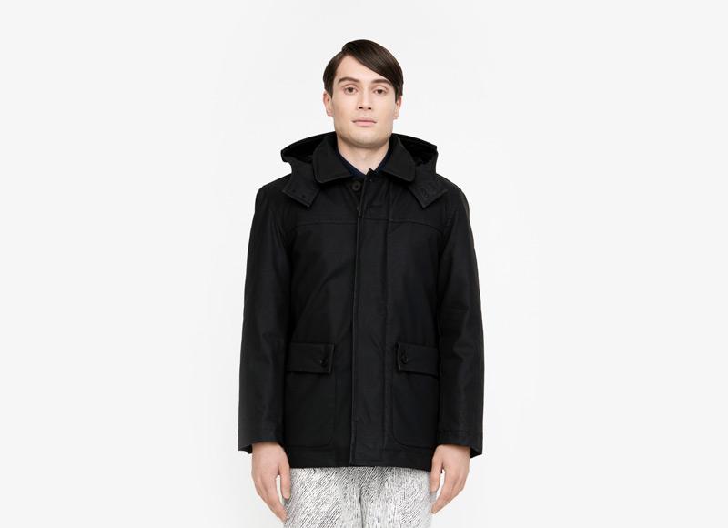 Frisur – pánská podzimní/zimní bunda s kapucí, nepromokavá, černá | Podzimní a zimní oblečení – pánské