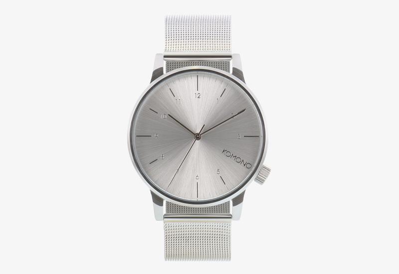 Hodinky Komono Winston Royale – stříbrné barvy, silver | Pánské a dámské náramkové hodinky