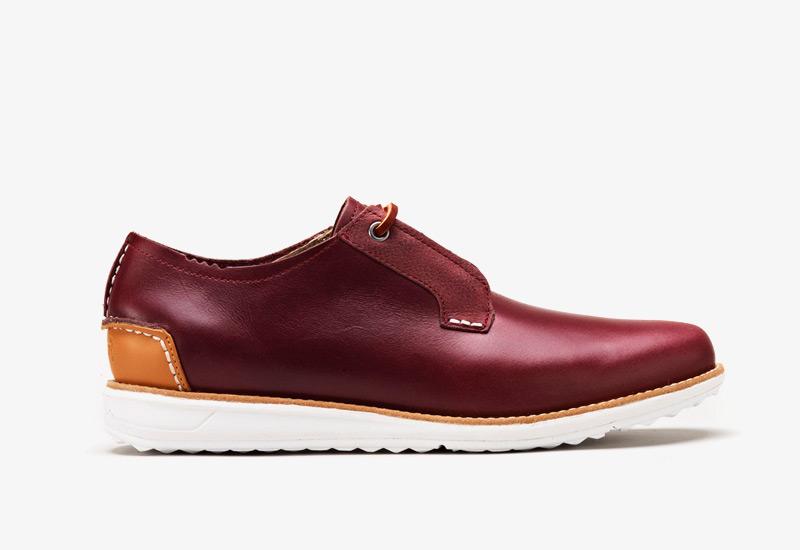 Pánské nízké podzimní boty ohw? – Farrell, vínové, kožené | Vycházkové boty