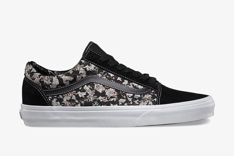 Boty Vans x Liberty – Old Skool – černé s hnědým vzorem břečťanu – Belmont Ivy | Pánské a dámské nízké tenisky Vans