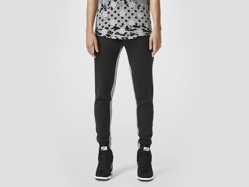 Nike – dámské tepláky, dámské, sportovní, stylové, černé, běžecké kalhoty | Color Block
