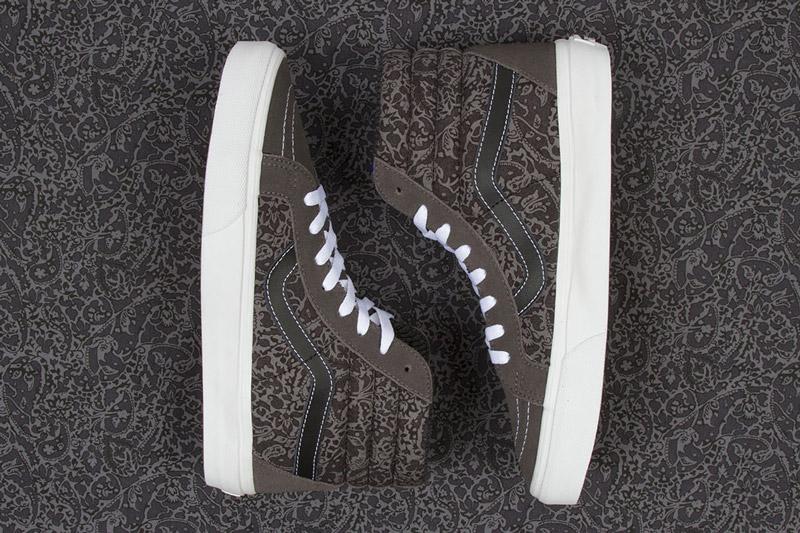 Boty Vans x Liberty – Sk8-hi – hnědé se rostlinným vzorem Bay Laurel | Pánské a dámské nízké kotníkové boty Vans