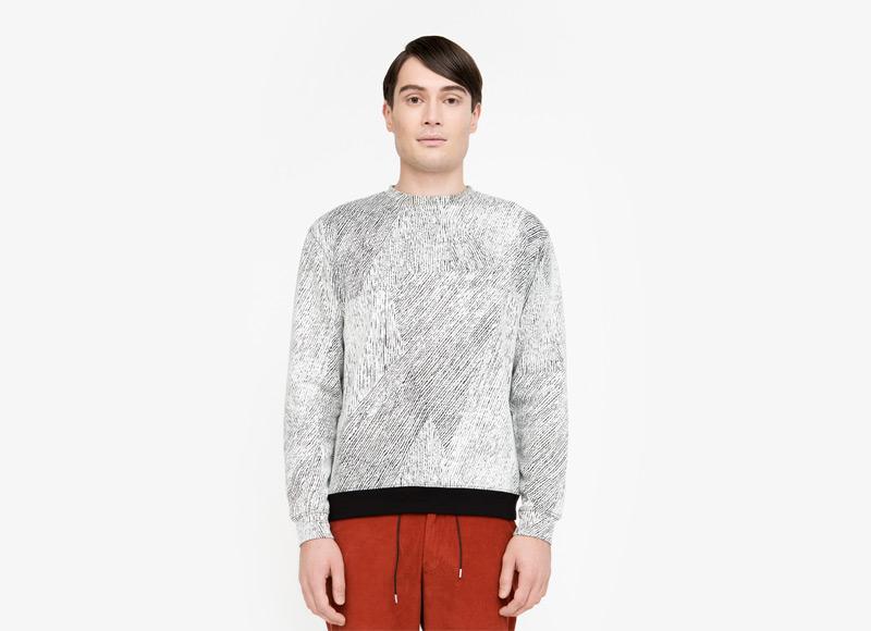 Frisur – pánská mikina se vzorem | Podzimní a zimní oblečení – pánské