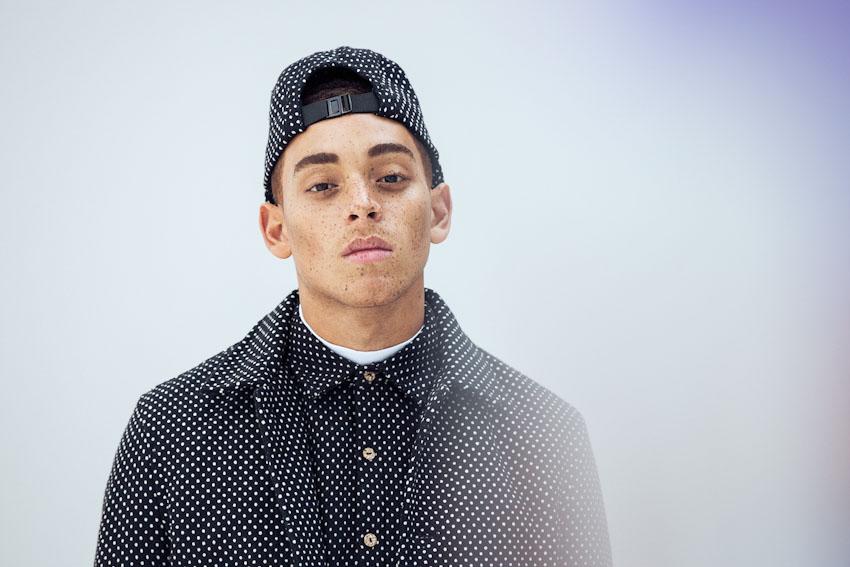 Daily Paper – pánská černá bunda s tečkami, košile, polka dot, pánská bunda, kšiltovka | Pánské podzimní a zimní oblečení