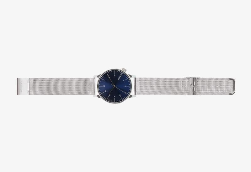 Hodinky Komono Winston Royale – stříbrné barvy, modrý ciferník, silver, blue | Pánské a dámské náramkové hodinky