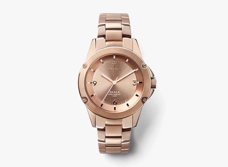 Hodinky Triwa – dámské – ocelové  – úprava růžovým zlatem – Rose Skala | Náramkové luxusní hodinky
