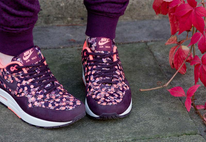 Boty Nike x Liberty – Air Max 1, se vzory, fialové, vínové, oranžové | Dámské tenisky