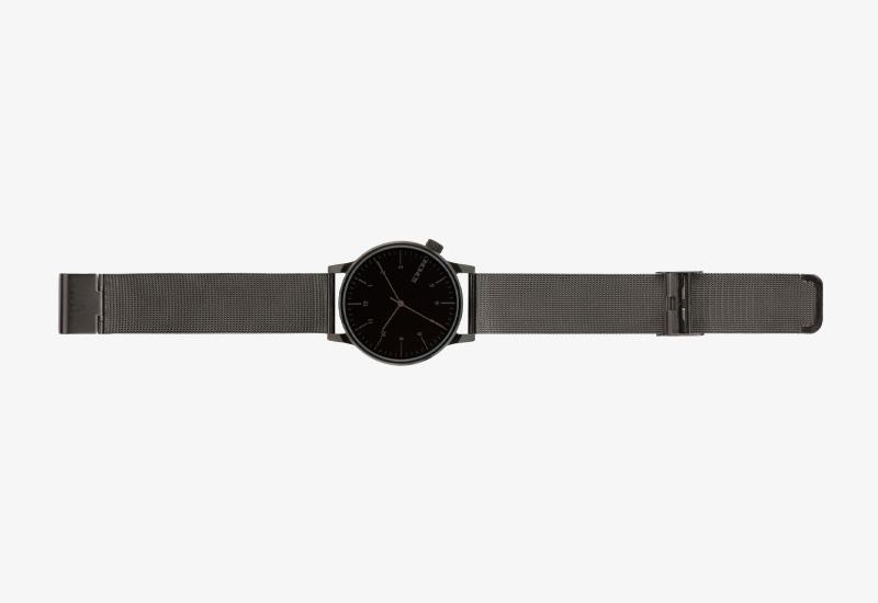 Hodinky Komono Winston Royale – černé | Pánské a dámské náramkové hodinky