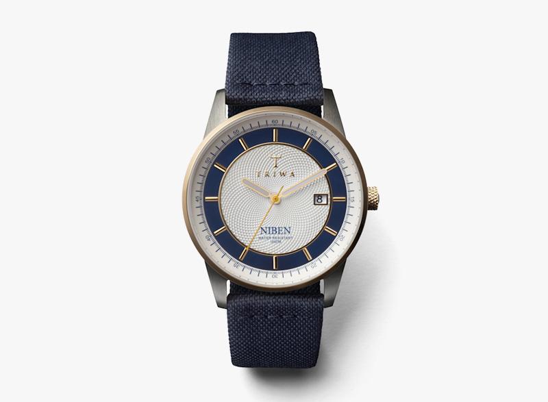 Hodinky Triwa – dámské – modré, modrý náramek, bílé pouzdro – Duke Niben | Náramkové luxusní hodinky