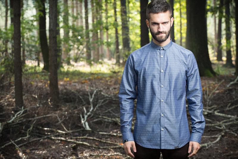 Pattern – pánská košile s jemným vzorem, modrá | Pánské oblečení