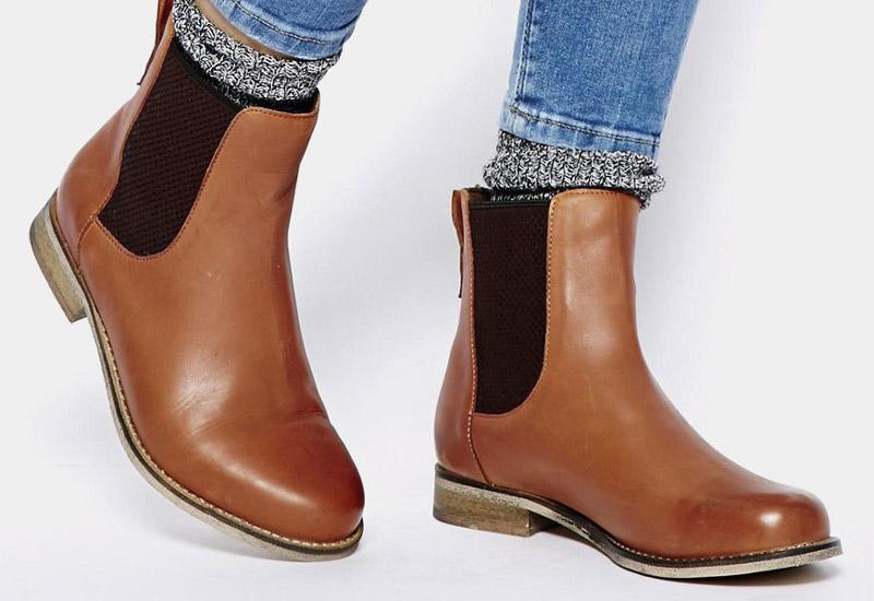 Boty perka – Chelsea Boots – dámské, kožené, – hnědé, vysoké | Kotníkové boty – dámské
