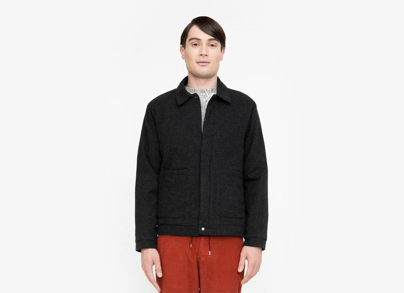 Frisur – pánská krátká podzimní bunda do pasu, bez kapuce | Podzimní a zimní oblečení – pánské