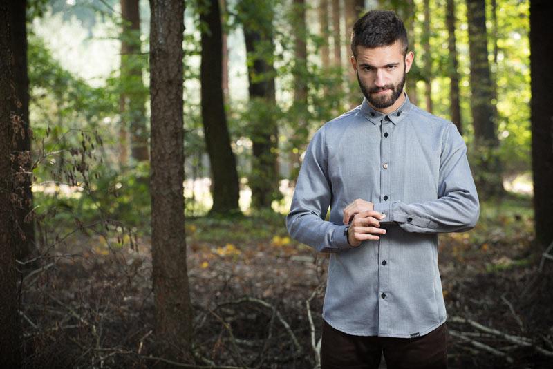 Pattern – pánská košile, šedá | Pánské oblečení