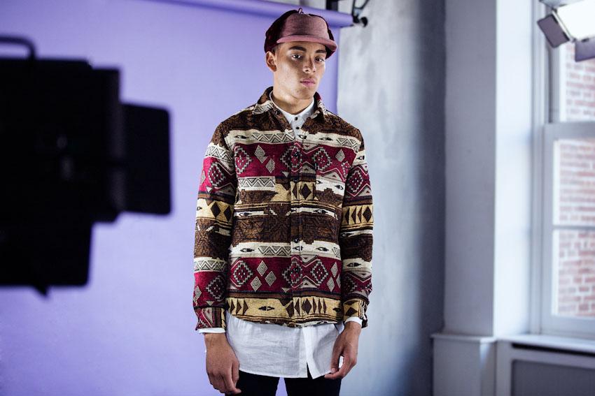 Daily Paper – pánská košile s africkými vzory s dlouhým rukávem | Pánské podzimní a zimní oblečení