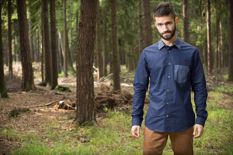 Pattern – pánská košile – modrá | Pánské oblečení