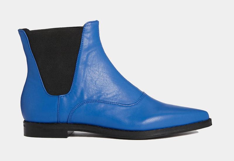 Boty perka – Chelsea Boots – dámské, kožené, – modré | Kotníkové boty – dámské