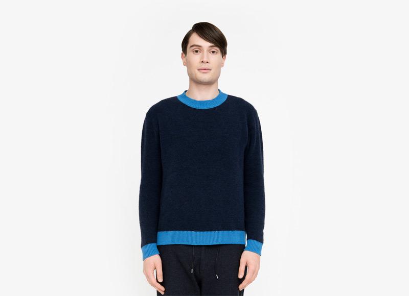 Frisur – pánský modrý svetr | Podzimní a zimní oblečení – pánské
