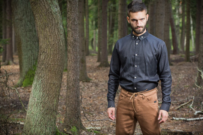 Pattern – pánská košile, černá | Pánské oblečení
