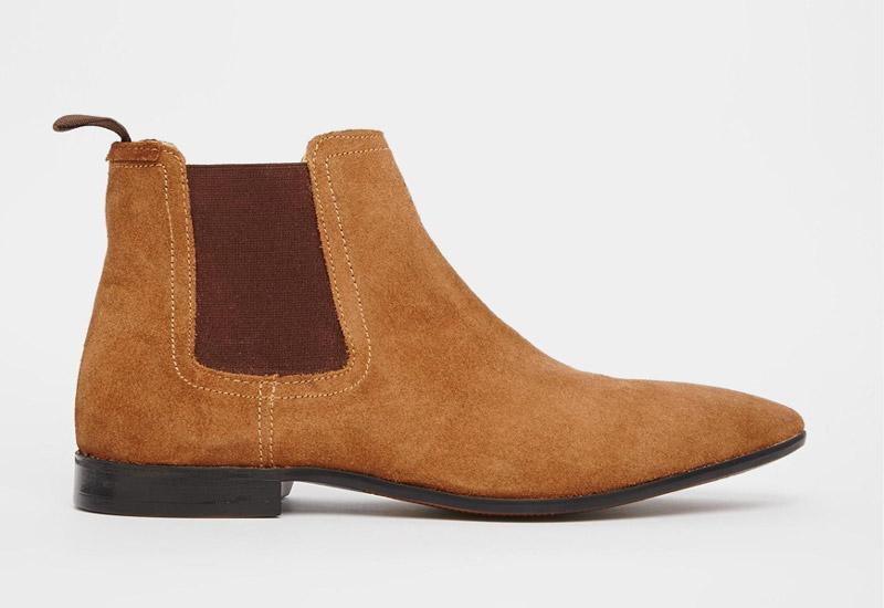 Boty perka – Chelsea Boots – pánské, kožené, – hnědé, semišové | Kotníkové boty – pánské