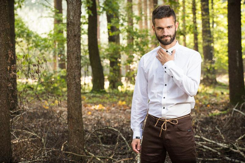 Pattern – pánská košile, bílá | Pánské oblečení