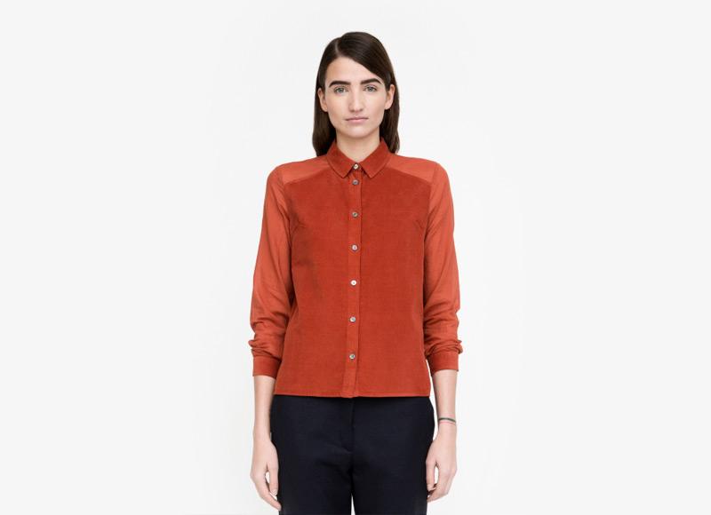 Frisur – červená košile, dámská, dlouhý rukáv | Podzimní a zimní oblečení – dámské
