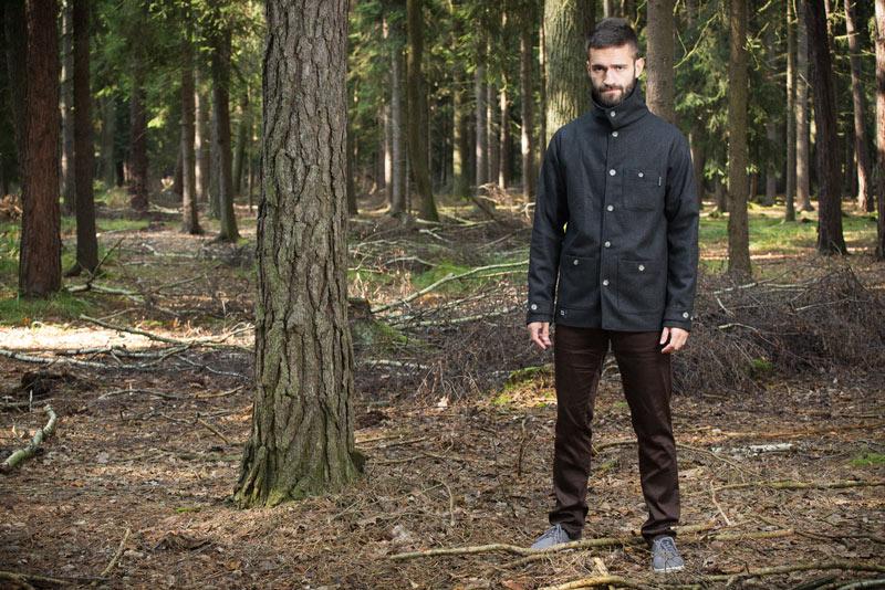Pattern – pánská bunda – černá, krátký kabát | Pánské oblečení