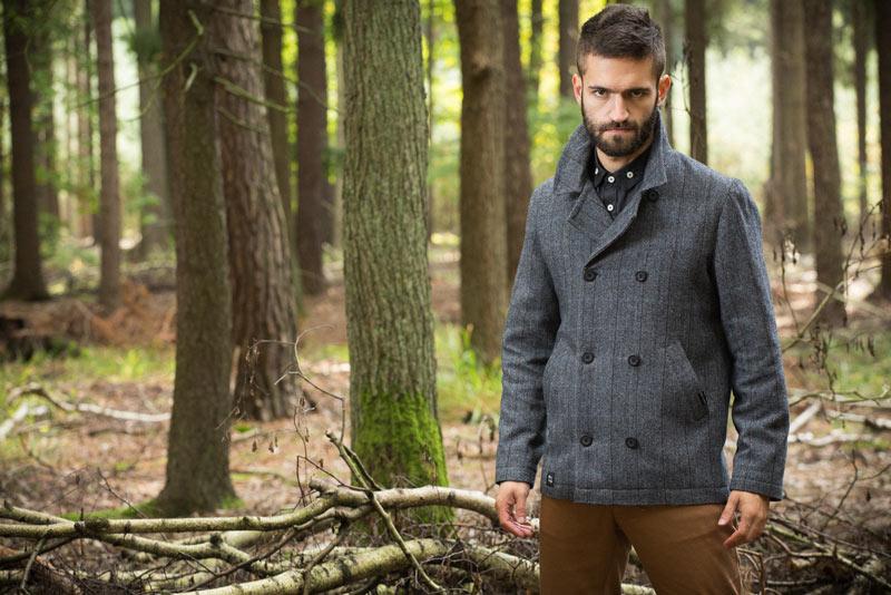 Pattern – pánský krátký kabát – šedý, kabátek | Pánské oblečení