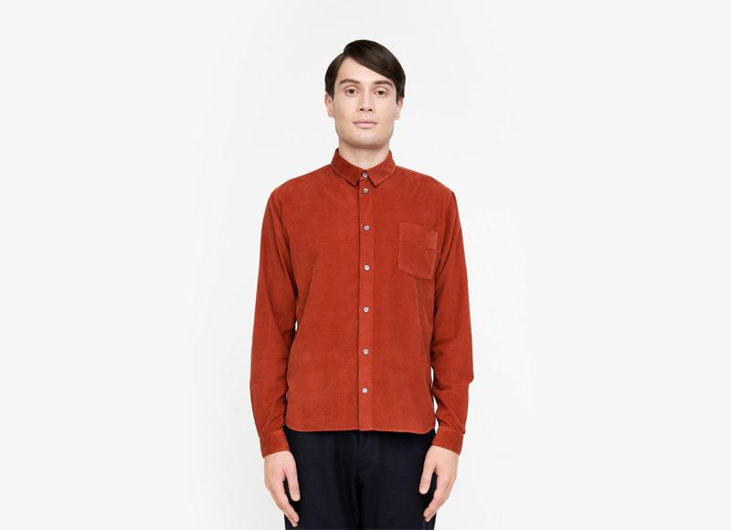 Frisur – pánská červená košile s dlouhým rukávem | Podzimní a zimní oblečení – pánské