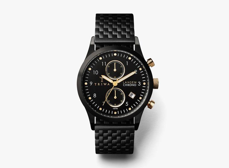 Hodinky Triwa – pánské – černé z chirugické oceli – Rose Skala | Náramkové luxusní hodinky