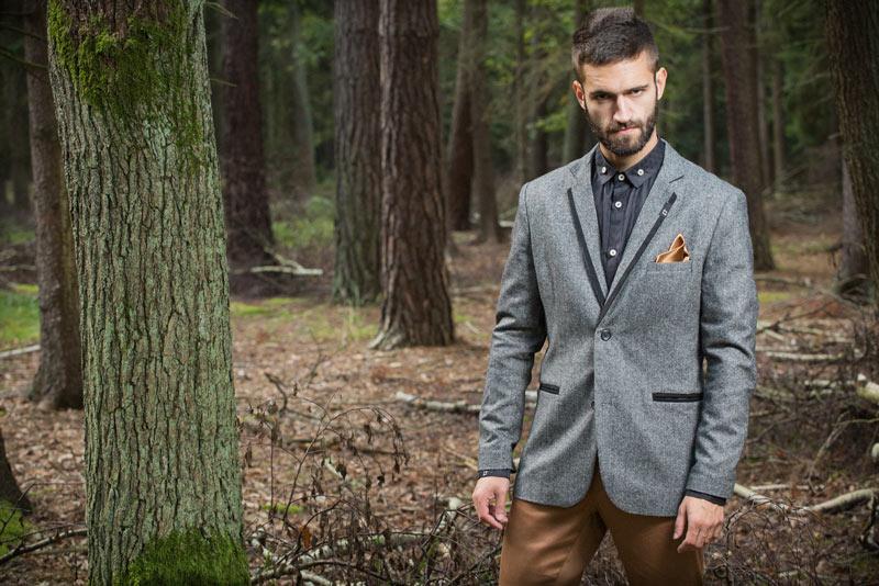 Pattern – pánské sako, šedé | Pánské oblečení