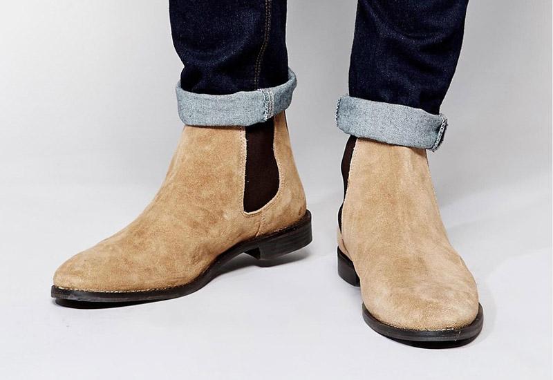 Boty perka – Chelsea Boots – pánské, kožené, – světle hnědé, pískové | Kotníkové boty – pánské