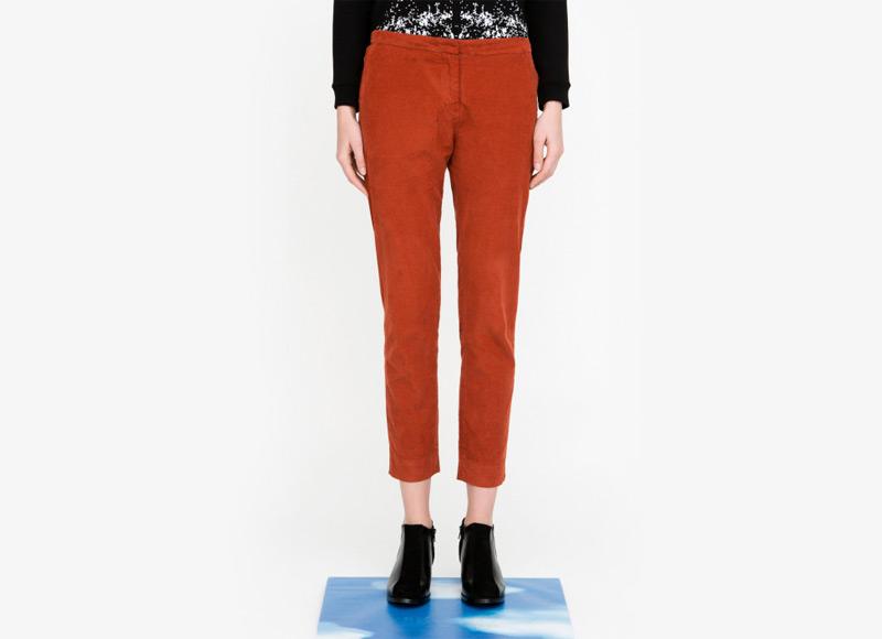Frisur – dámské kalhoty, bavlněné, červené | Podzimní a zimní oblečení – dámské