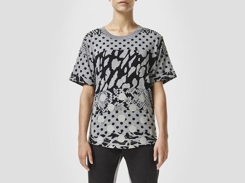 Nike – dámské tričko se vzory, triko, šedé, sportovní, reflexní prvky | Color Block