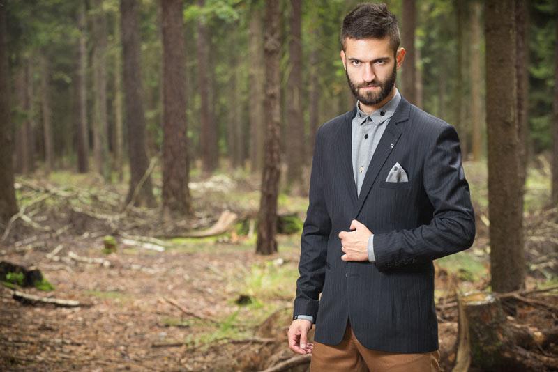 Pattern – pánské sako, černé | Pánské oblečení
