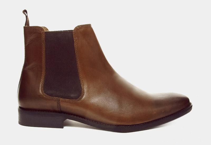 Boty perka – Chelsea Boots – pánské, kožené, – tmavě hnědé | Kotníkové boty – pánské