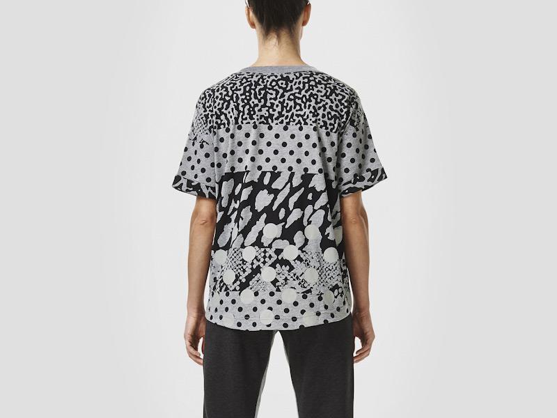 Nike – šedé dámské tričko, triko, reflexní prvky, sportovní, vzory | Color Block