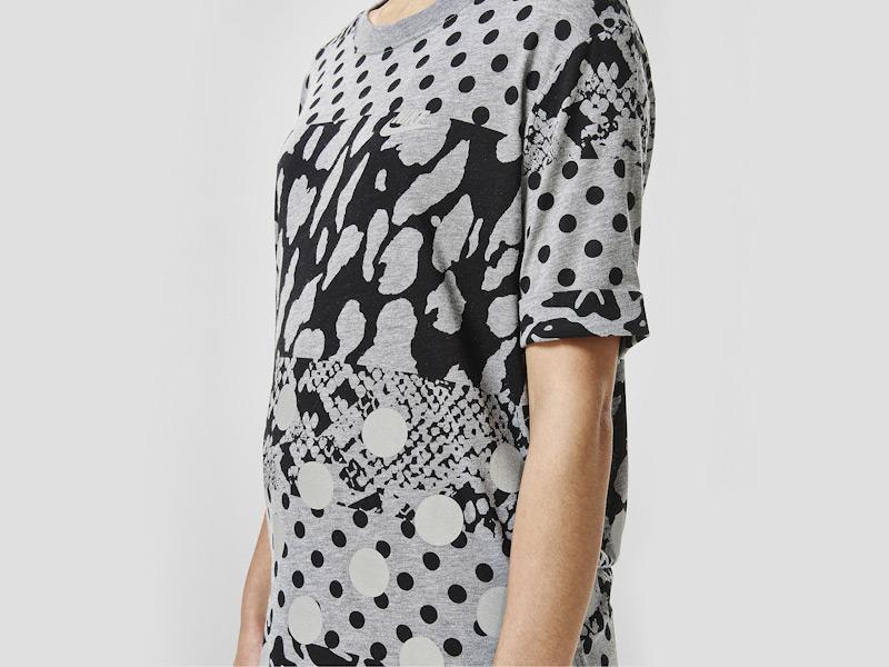 Nike – sportovní tričko, triko, šedé, černé vzory, reflexní prvky | Color Block